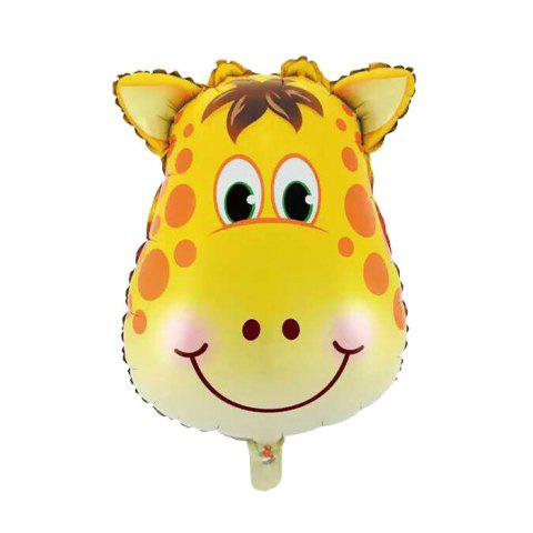 Unique Auto-Seal Giraffe Foil Balloon Reuse Party / Birthday Decor Inflatable Gift for Children