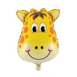 Auto-Seal Giraffe Foil Balloon Reuse Party / Birthday Decor Inflatable Gift for Children -