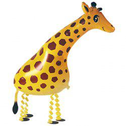 Auto-Seal Walking Giraffe Foil Balloon Reuse Party / Birthday Decor Inflable Gift for Children -