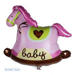 Auto-Seal Wooden Horse Foil Balloon Reuse Party / Wedding Decor Inflatable Gift for Children - PINK