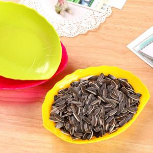Multi-functional Plastic Leaf Shaped Candy Dish Snack Tray Dried Fruit Plate -