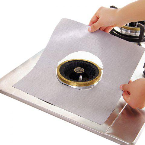 Shop 4PCS Reusable Gas Hob Protector Multi-functional Anti-dust Stove Protecting Plate - SILVER  Mobile