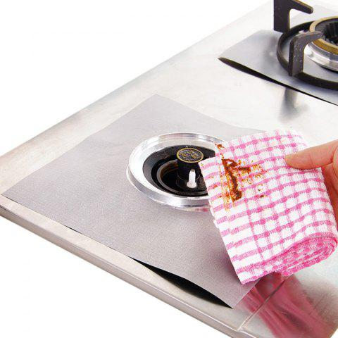 Chic 4PCS Reusable Gas Hob Protector Multi-functional Anti-dust Stove Protecting Plate - SILVER  Mobile