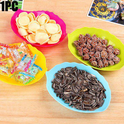 Sale Multi-functional Plastic Leaf Shaped Candy Dish Snack Tray Dried Fruit Plate