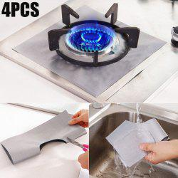 4PCS Reusable Gas Hob Protector Multi-functional Anti-dust Stove Protecting Plate - SILVER
