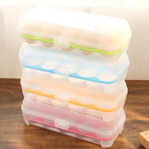 Portable Plastic Egg Storage Box with 10 Crisper Multi-purpose Food Container -