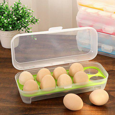 Chic Portable Plastic Egg Storage Box with 10 Crisper Multi-purpose Food Container