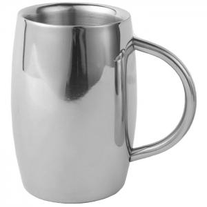 Practical Stainless Steel Coffee Mug 550ml Water Cup - Silver