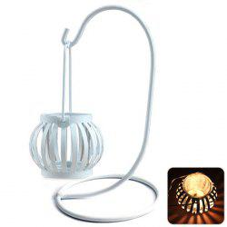 European Retro Hollow Out Iron Hanging Bird Cage Candle Holder Decorative Candlestick Home Art Decoration -