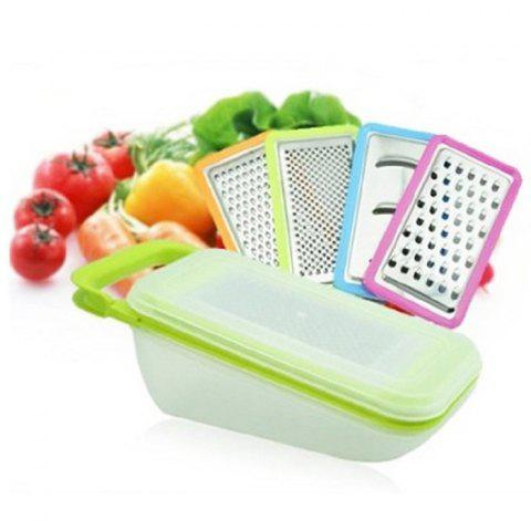Chic Multi-functional Fruit Vegetable Peeler Set Potato Cucumber Carrot Cutter Kitchen Tool COLORMIX