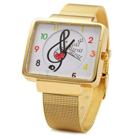 Outfits JUBAOLI 1094 Women Quart Watch Note Decoration Arabic Number Scale Steel Net Band