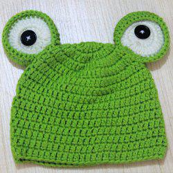 Lovely Baby Photography Frog Hat Bonnet en laine de laine infantile Newborn Photo Props -