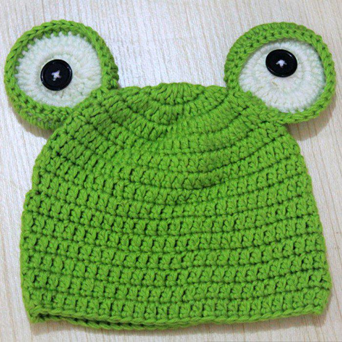 Lovely Baby Photography Frog Hat Bonnet en laine de laine infantile Newborn Photo Props