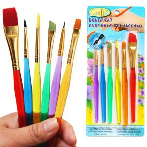 6PCS Colorful Egg Painting Brush Washable Drawing Supply - Colormix - 180*200cm