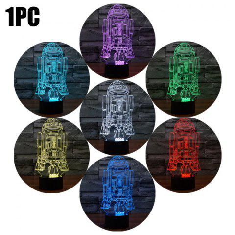 Chic R2D2 Shape 3D RGB LED Night Light Color Changing Decorative Table Lamp