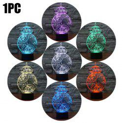 BB-8 Shape 3D RGB LED Night Light Color Changing Decorative Table Lamp -