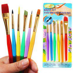 6PCS Colorful Egg Painting Brush Washable Drawing Supply - COLORMIX