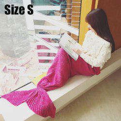 Crocheted / Knited Mermaid Tail Style Blanket - ROSE - KID