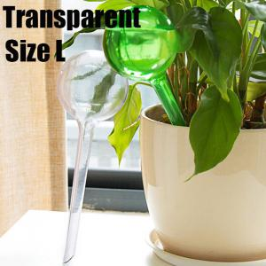 PVC Ball Shape Automatic Drip Watering System Potted Plants Irrigation Controller - Transparent - Size L