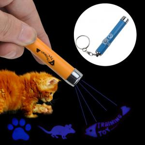 LED Laser Pointer Light Pet Cat Play Toy with Cute Pattern Projection - Blue - W20 Inch * L31.5 Inch