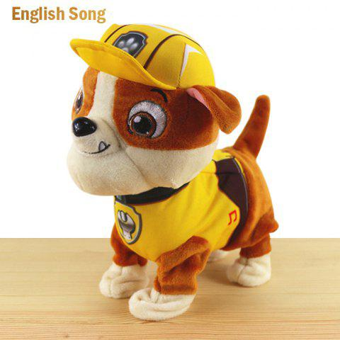 Outfits JS 24cm Height Plush Doll Battery Operated Toy with Cartoon Theme Song