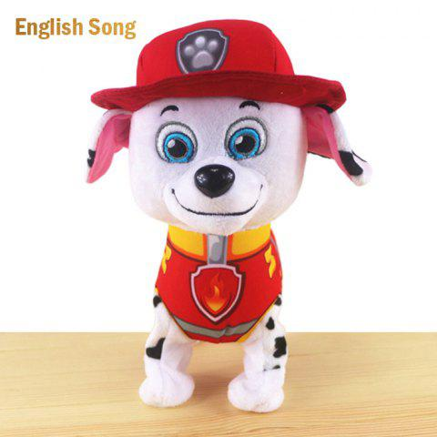 Unique JS 24cm Height Plush Doll Battery Operated Toy with Cartoon Theme Song