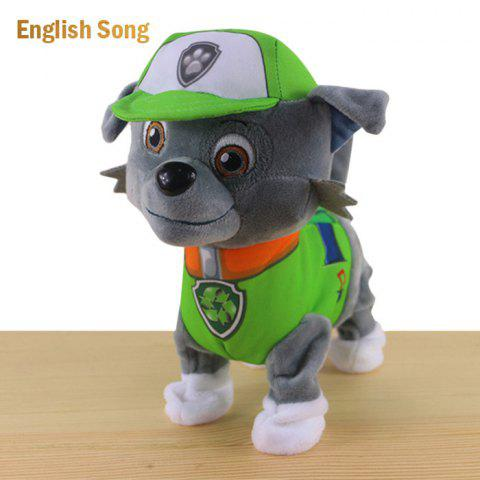 Fashion JS 24cm Height Plush Doll Battery Operated Toy with Cartoon Theme Song