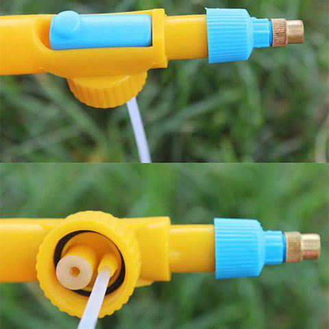 Unique Plastic Pressure Type Water Spraying Sprayer Head Beverage Bottle Nozzle Garden Accessory - BLUE AND YELLOW  Mobile