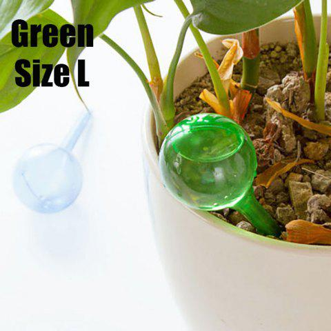 Outfit PVC Ball Shape Automatic Drip Watering System Potted Plants Irrigation Controller GREEN SIZE L