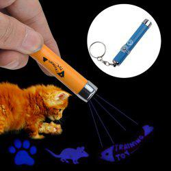 LED Laser Pointer Light Pet Cat Play Toy with Cute Pattern Projection