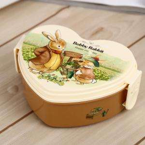 Cute Heart Shape PP Lunch Box with Hasp for Kids Adults -