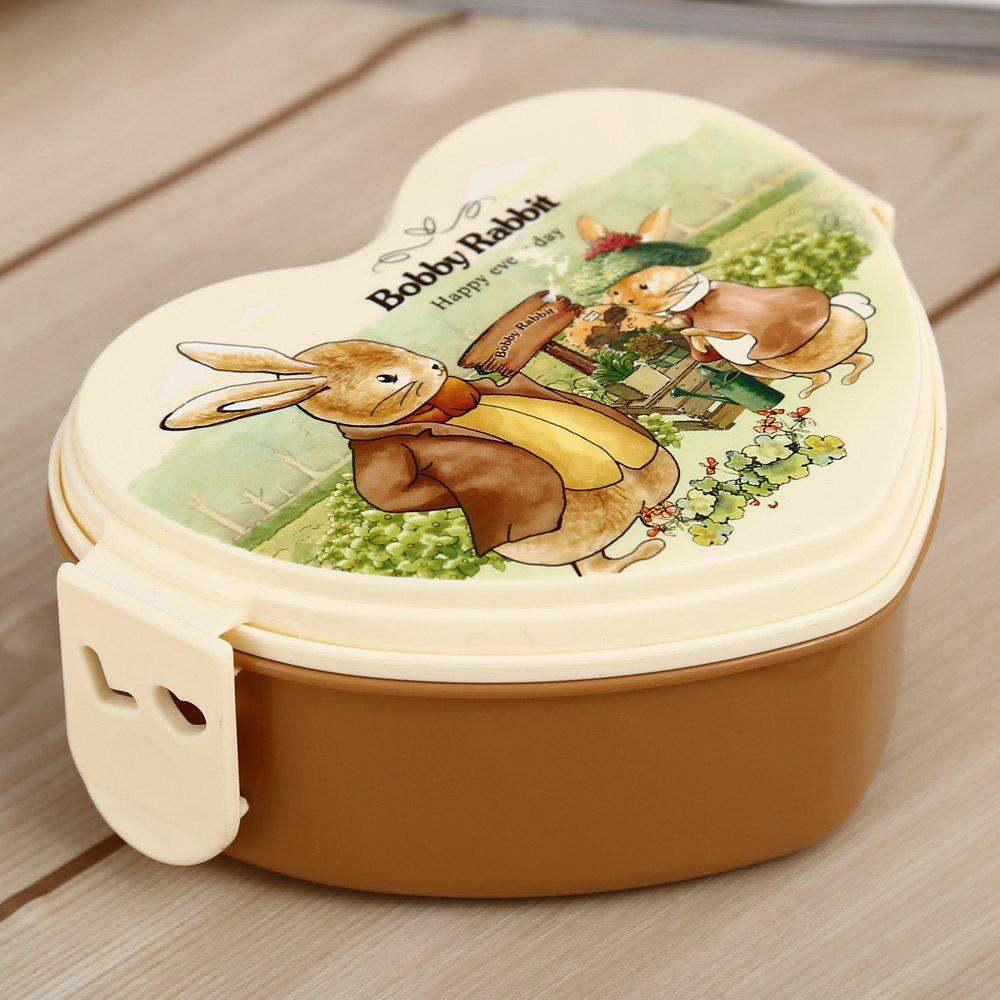 Chic Cute Heart Shape PP Lunch Box with Hasp for Kids Adults