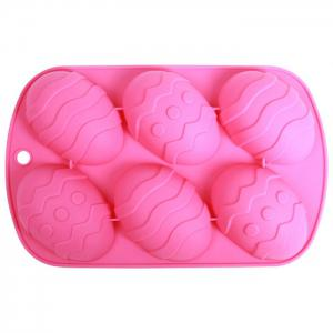 Silicone Easter Eggs Pattern DIY Baking Mold Cake Candy Biscuit Maker Mould - Colormix - 32