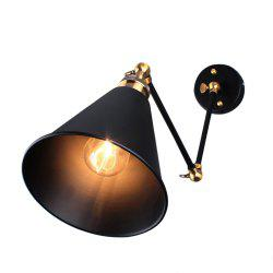 Rustic Flexible Long Arm Wall Light Sconce E27 Socket
