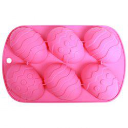 Silicone Easter Eggs Pattern DIY Baking Mold Cake Candy Biscuit Maker Mould - COLORMIX