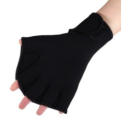 One Pair Diving Webbed Gloves Frog Hand Flipper for Swimming Training -
