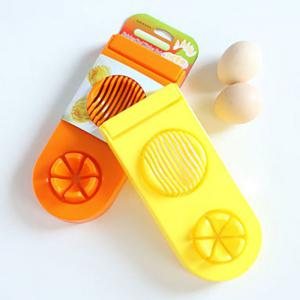 2 in 1 ABS Boiled Egg Cutter Mold Multi-functional Eggshell Chopper Kitchen Gadget - COLORMIX