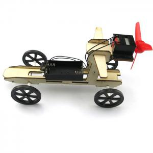 DIY Wind Car 003 Assemble Battery Operated Educational Toy - COLORMIX