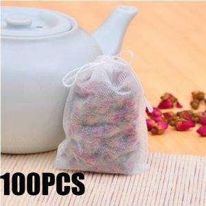 100PCS Multi-functional Non-woven Herbal Tea Bag Practical Teabags Strainer - White