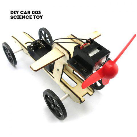 Sale DIY Wind Car 003 Assemble Battery Operated Educational Toy COLORMIX