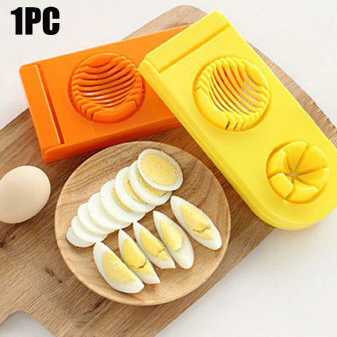 Fancy 2 in 1 ABS Boiled Egg Cutter Mold Multi-functional Eggshell Chopper Kitchen Gadget COLORMIX