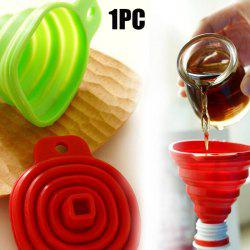 Mini Stretch Silicone Funnel Leak Pop-up Hopper Infundibulum