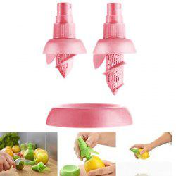 2PCS Multi-functional Citrus Sprayer Manual Lemon Fruit Juice Squeezer Reamer Tools - PINK