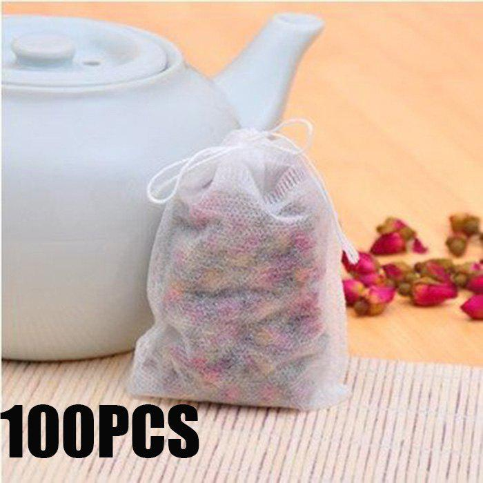 100PCS Multi-functional Non-woven Herbal Tea Bag Practical Teabags StrainerHOME<br><br>Color: WHITE; Type: Practical; For: All; Occasion: Home,Office,Others,Outdoor,School; Functions: Multi-functions; Material: Non-woven;