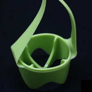 4PCS Small Silicone Egg Poacher with Handheld Boiler Stand Cup Holder -