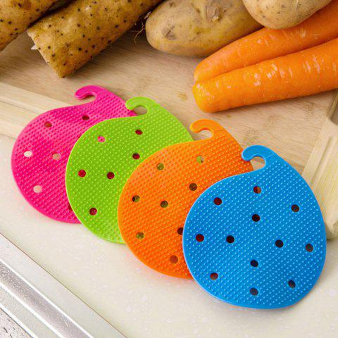 Discount Multi-functional Fruit Vegetable Cleaning Brush Microwave Heat Resistant Protector Kitchen Tool - COLORMIX  Mobile