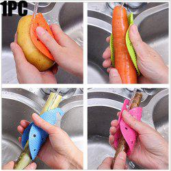 Multi-functional Fruit Vegetable Cleaning Brush Microwave Heat Resistant Protector Kitchen Tool - COLORMIX