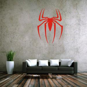 Spider Style Removable Wall Stickers Pure Color Room Window Decoration for Bedroom Store - Red - 21*29cm
