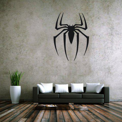 Outfit Spider Style Removable Wall Stickers Pure Color Room Window Decoration for Bedroom Store BLACK