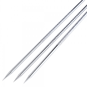 3pcs Professional Antibacterial Blackhead Remover Pimples Needles 12CM Tool Face Care Acne Extractor -